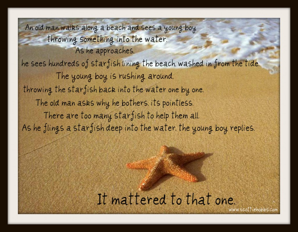 Starfish poem quotes